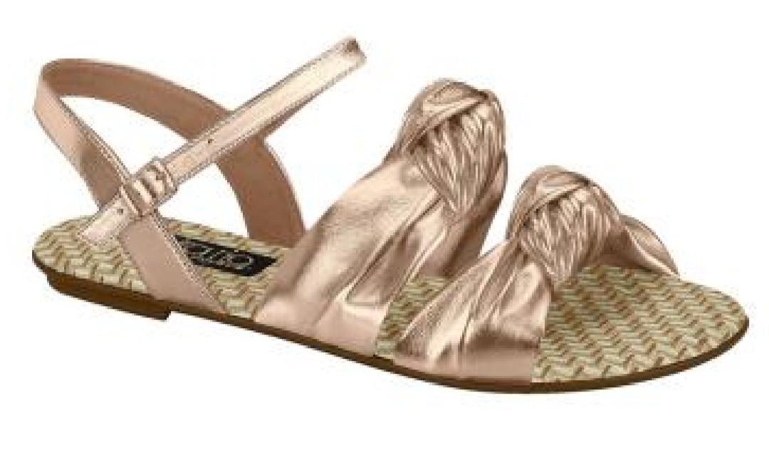 Sandália Rasteira Ouro Rosado 8384212