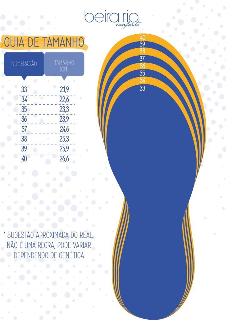 Sandália Verniz Beira Rio Preto 8246355