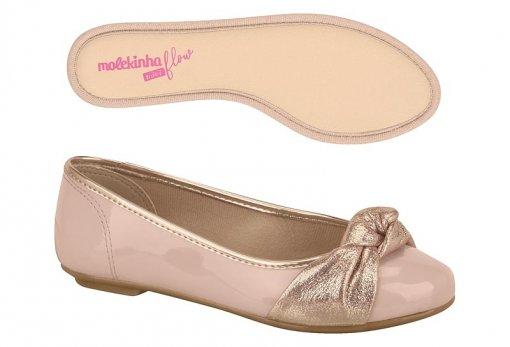 *Sapatilha Infantil Feminina Molekinha Original Rosa 2530102