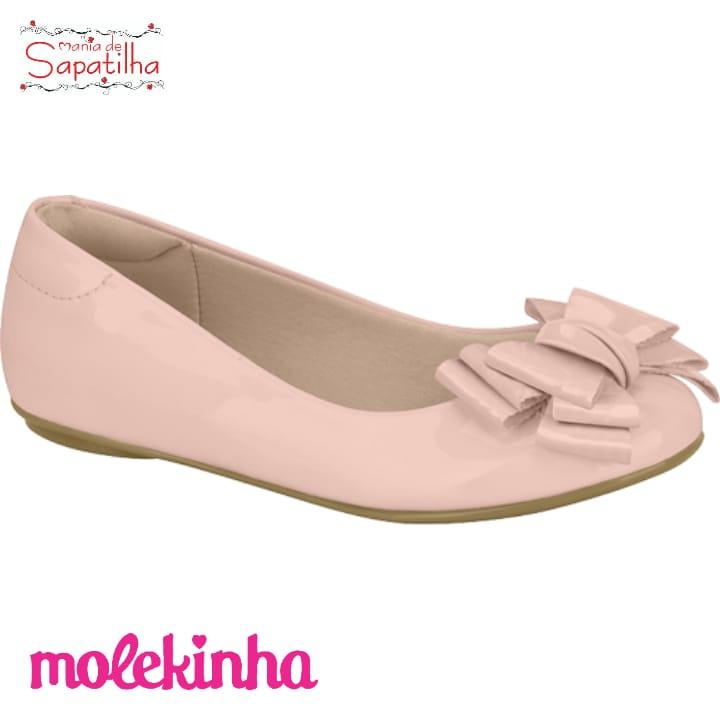 SAPATILHA INFANTIL FEMININA MOLEKINHA BRILHO ROSA - 2083998