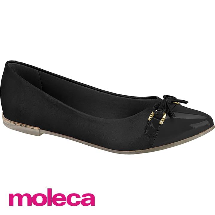 Sapatilha Moleca Preta Napa Brilho 5698202