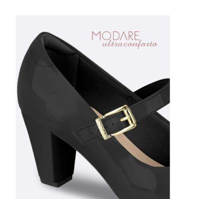 Sapato Boneca Modare Preto Verniz 7305434