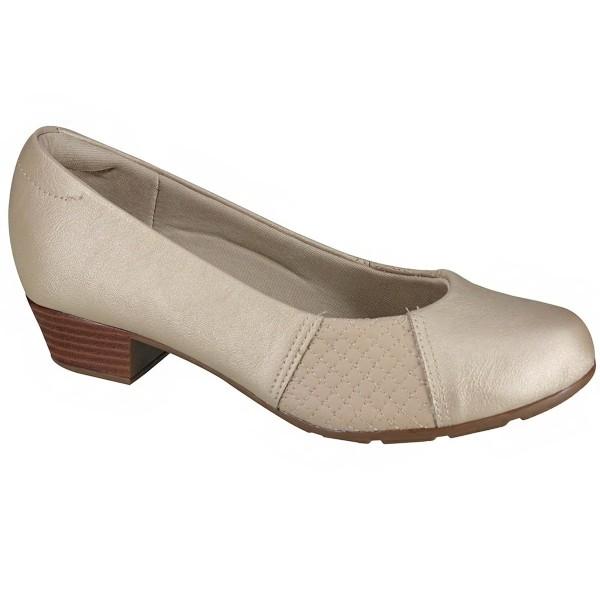 Sapato Feminino Modare Bege Napa Cristalina 732534