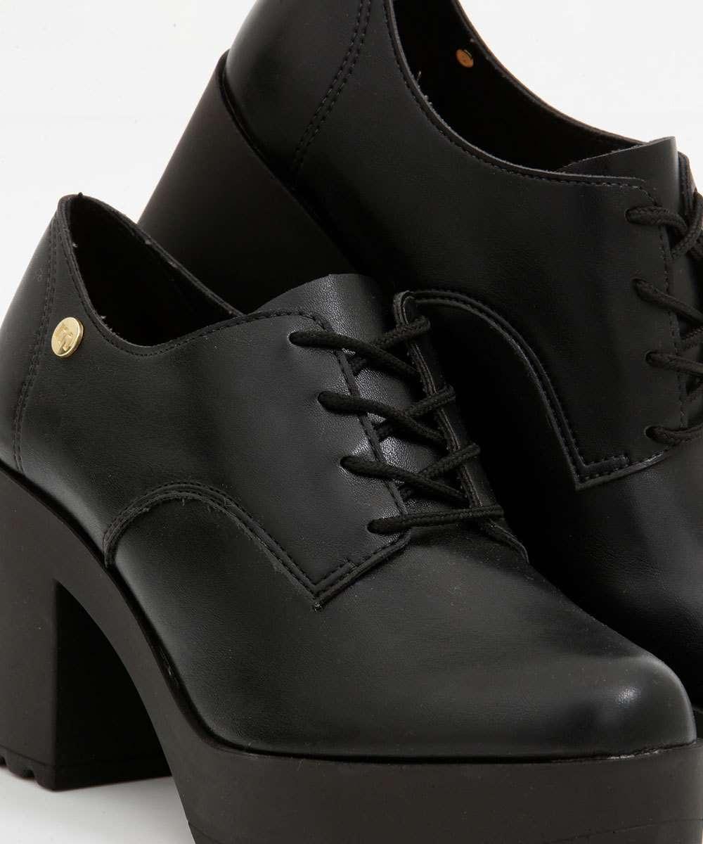 Sapato Feminino Oxford Moleca Preto Napa 5647211