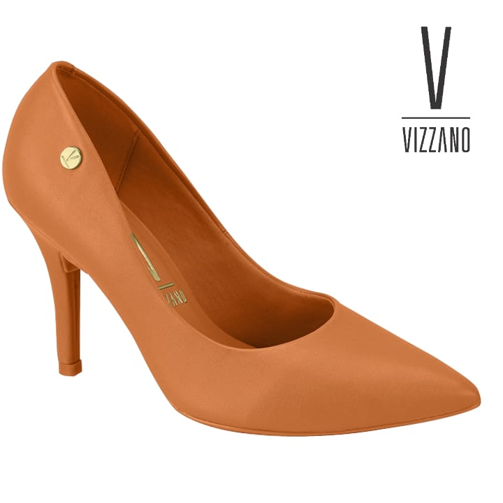 Sapato Feminino Vizzano Pelica  Laranja 11841201