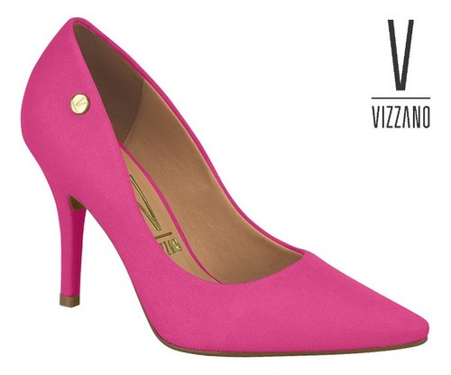 Sapato Feminino Vizzano Pink Camurça 11841101