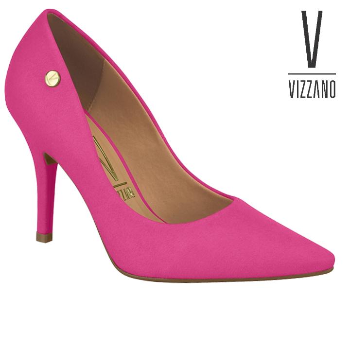 Sapato Scarpin Feminino Vizzano Pink Camurça 11841101