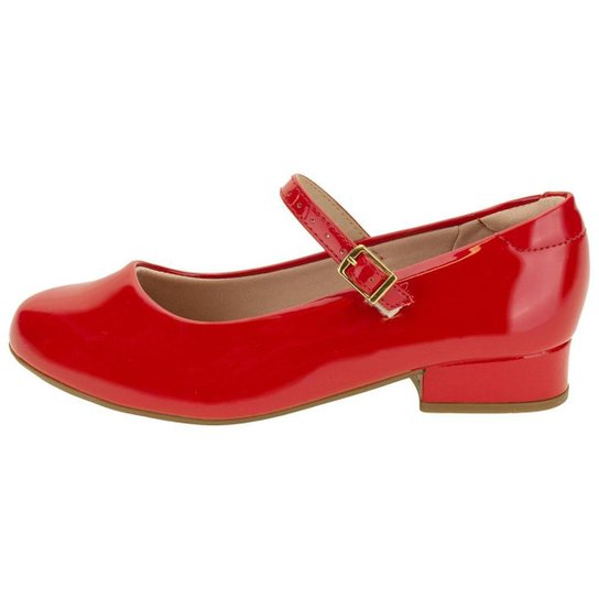 Sapato Infantil Feminino Molekinha  Vermelho Original 2528101