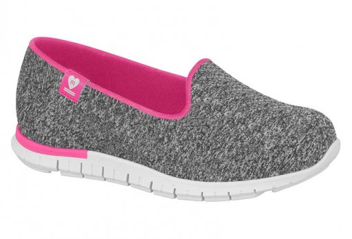 Sapato Molekinha Multi Cinza Tecido 2515312