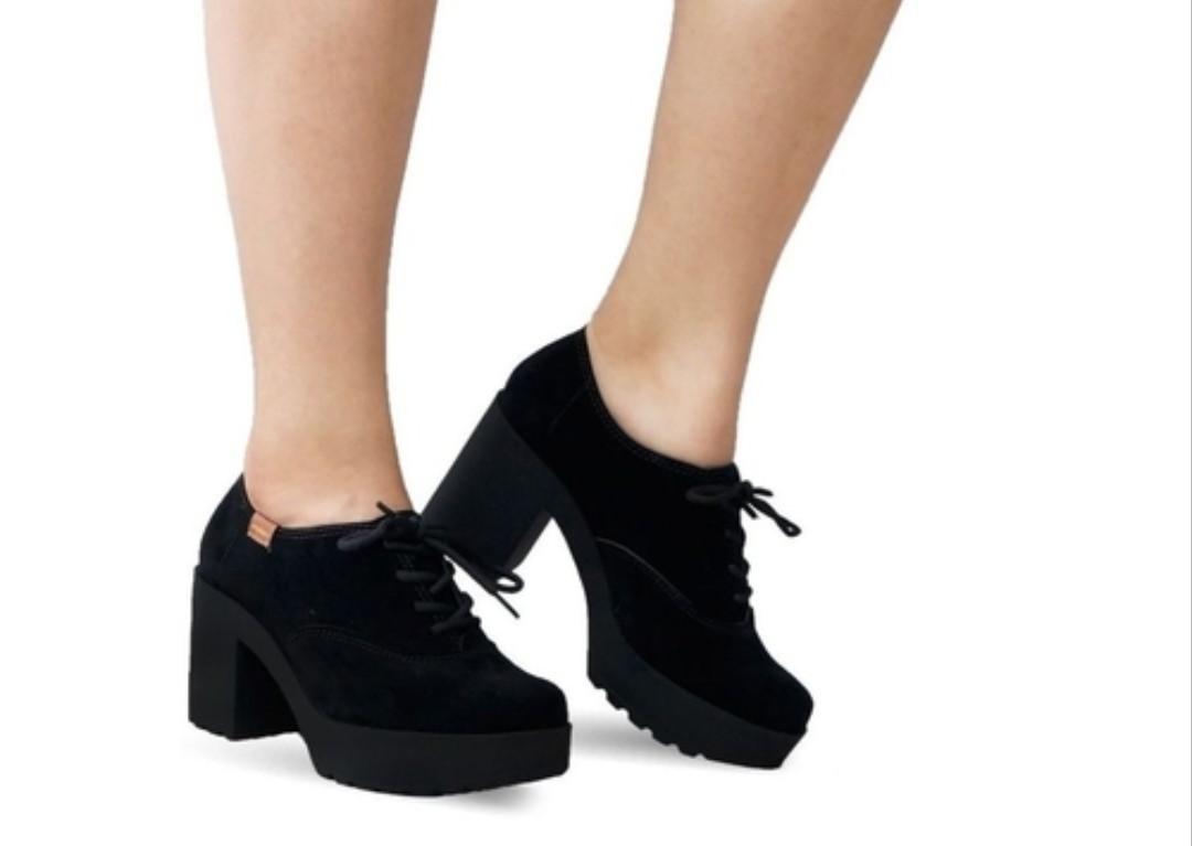 Sapato Nobuck Nice Glam Preto Moleca 5647106