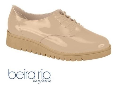 Sapato Oxford Bege Verniz 4174319