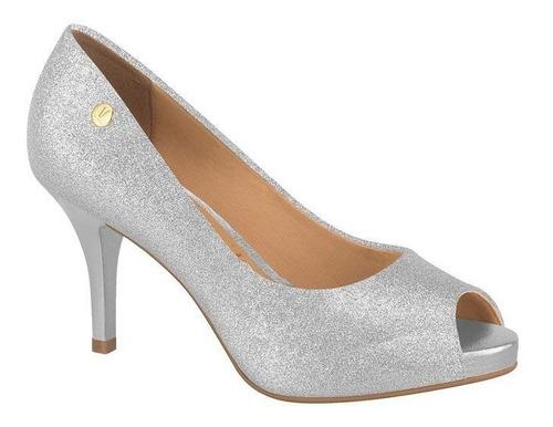 Sapato Peep Toe Feminino Vizzano Prata 1781807