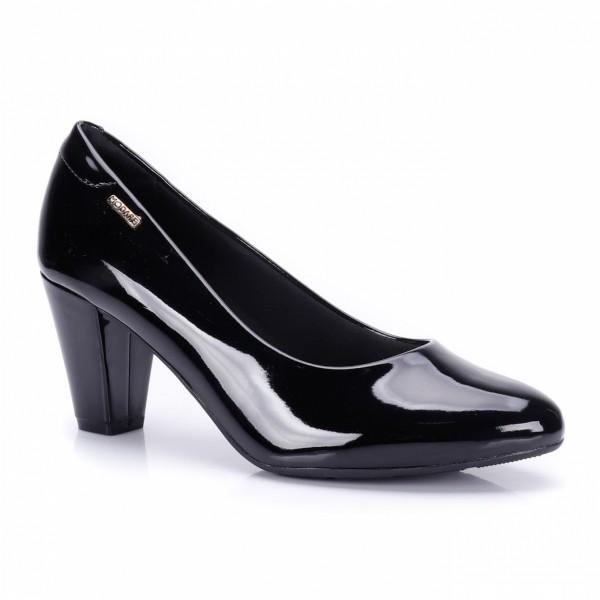 Sapato Salto Modare Verniz Feminino - Preto 7305400