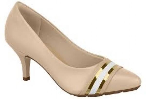 Sapato Scarpin Modare Ultraconforto Nude / Ouro Rosado
