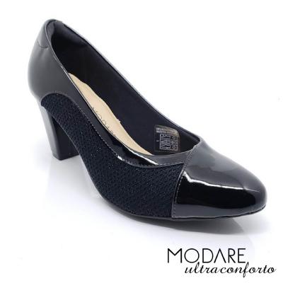 *Sapato Scarpin Modare Ultraconforto Preto Verniz 7305442