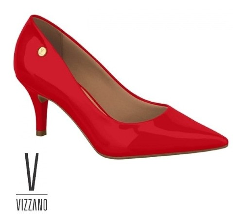 Sapato Scarpin Vermelho Vizzano 1185702