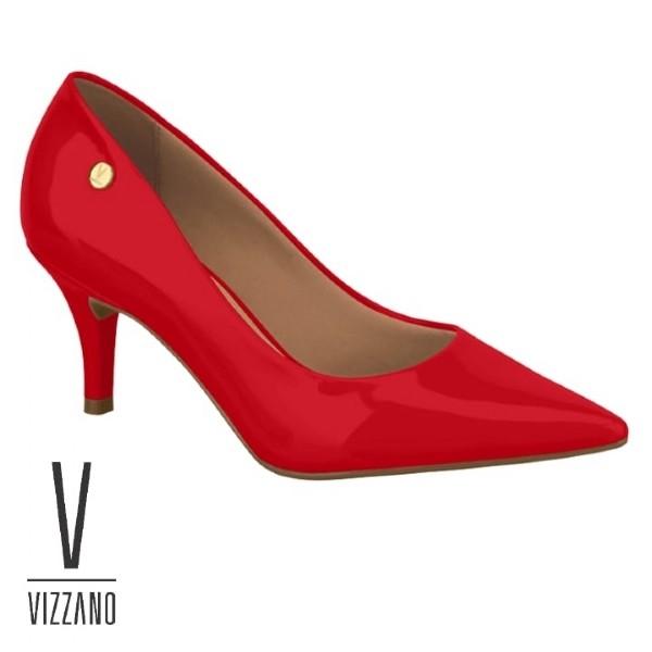 Sapato Scarpin Vermelho Vizzano Verniz 1185702