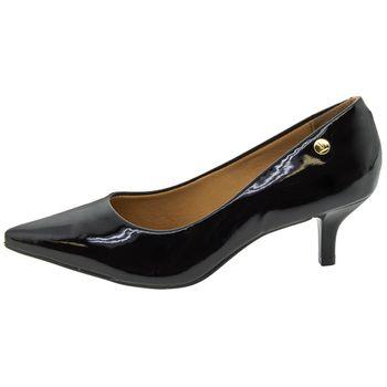 Sapato Scarpin Verniz Preto Vizzano 1122628 Salto Baixo