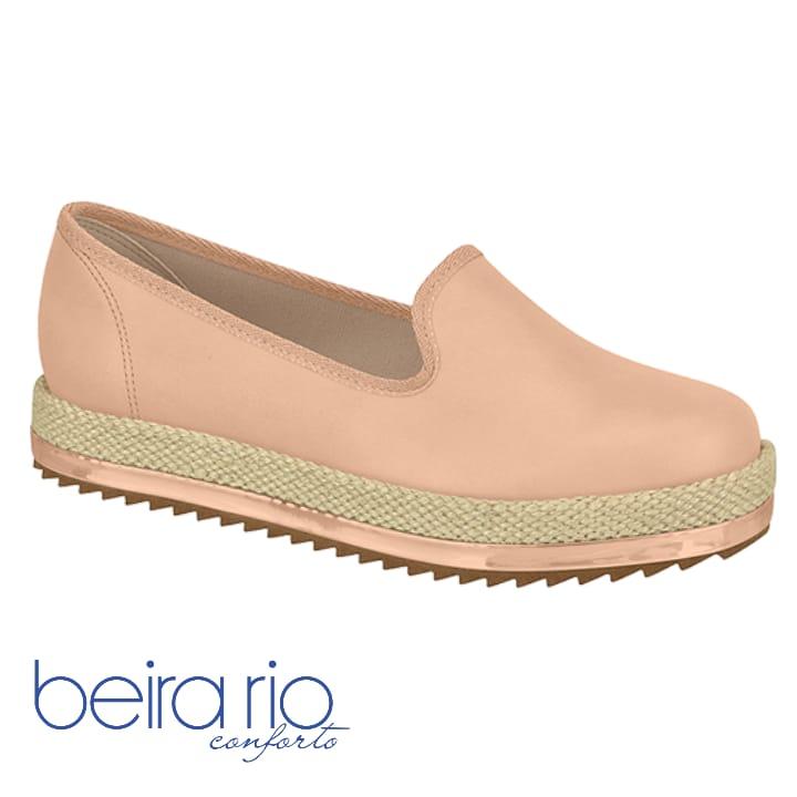 Sapato Slipper Beira Rio Napa Nude 4196600