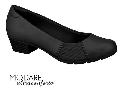 Sapato Social Salto Baixo Napa Conforto Modare 7032534