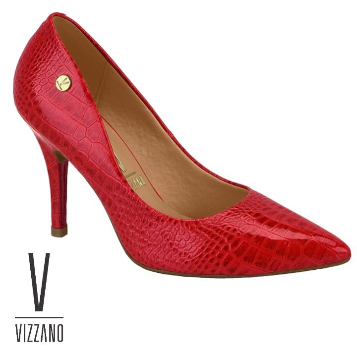 Sapato Vizzano 11841101 Feminino Vz Croco Vermelho