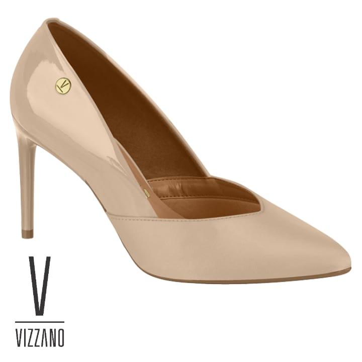 Sapato  Vizzano Verniz Pelica - Bege 1344104