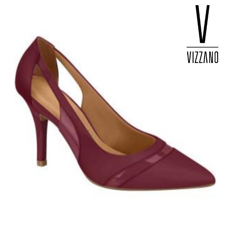SCARPIN BICO FINO Vizzano Pelica/Verniz Vinho FEMININO 11841130