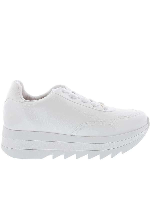 Tênis Casual Verniz Branco 1319100