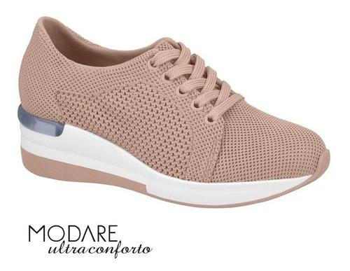 Tênis Modare Tecido Rosa Ultraconforto 7336104