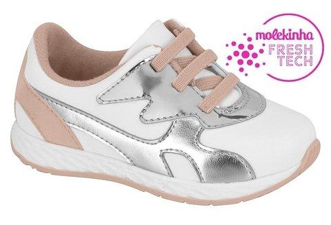 *Tênis Molekinha Bebê Infantil Branco Napa Original 2701101