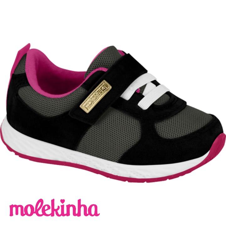 Tênis Molekinha Camurça Preto 2701105