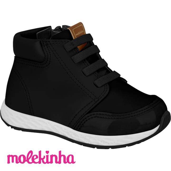 Tênis Molekinha Preto Napa 2701106