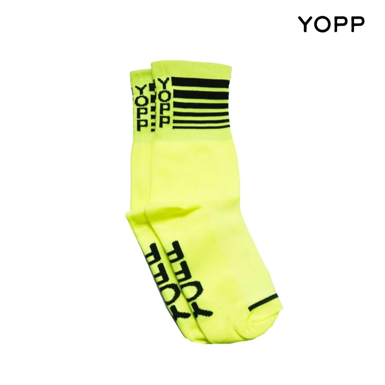 Meia Yopp - Amarela Riscada