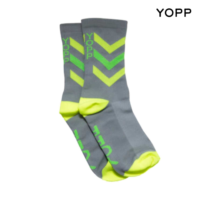 Meia Yopp - Cinza em V