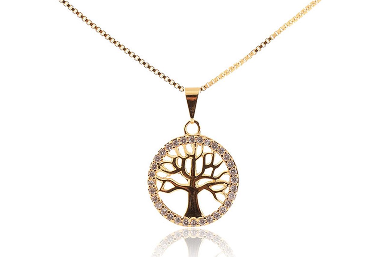 Colar com Pingente Árvore da Vida