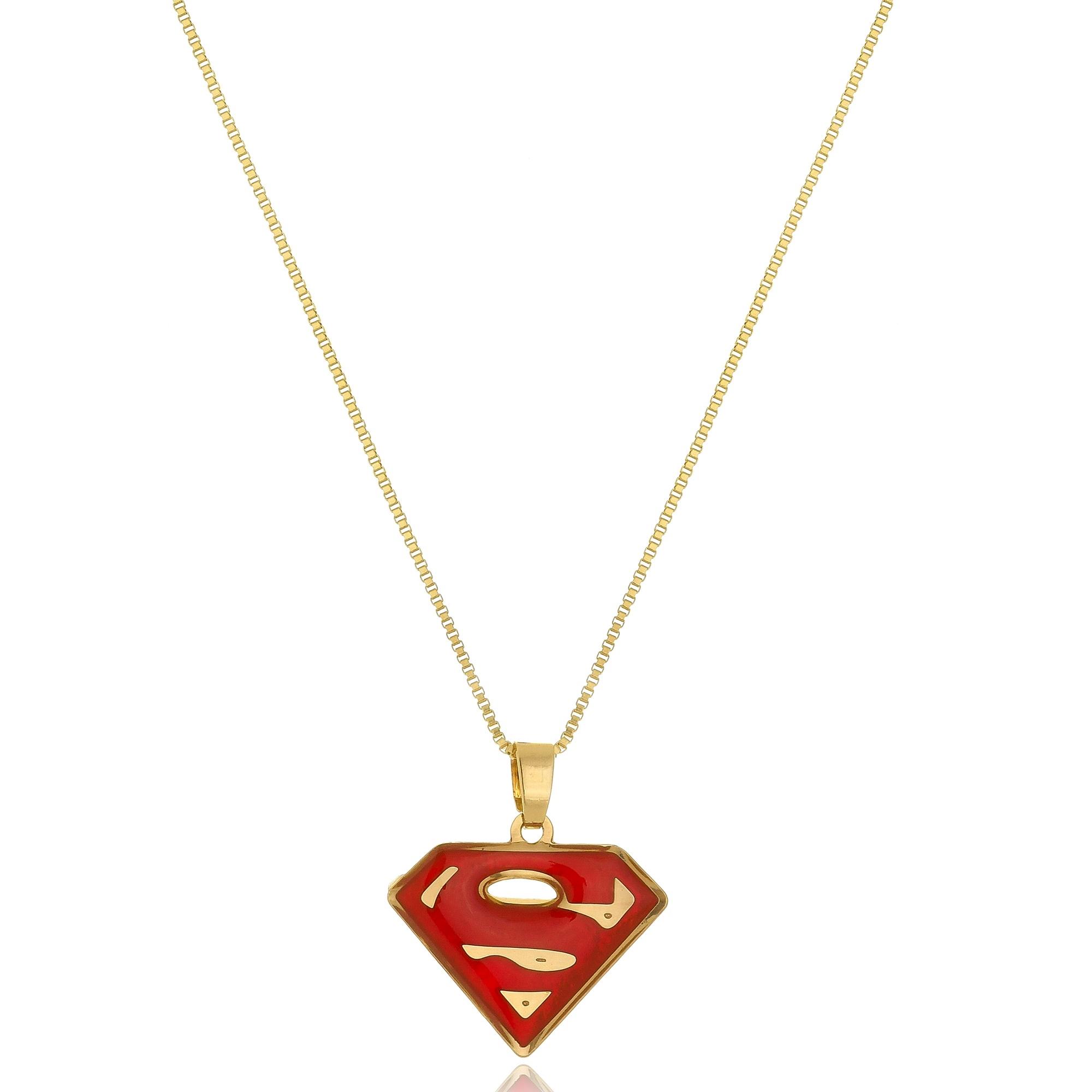Colar Personalizado Super Heróis Folheado em Ouro 18k