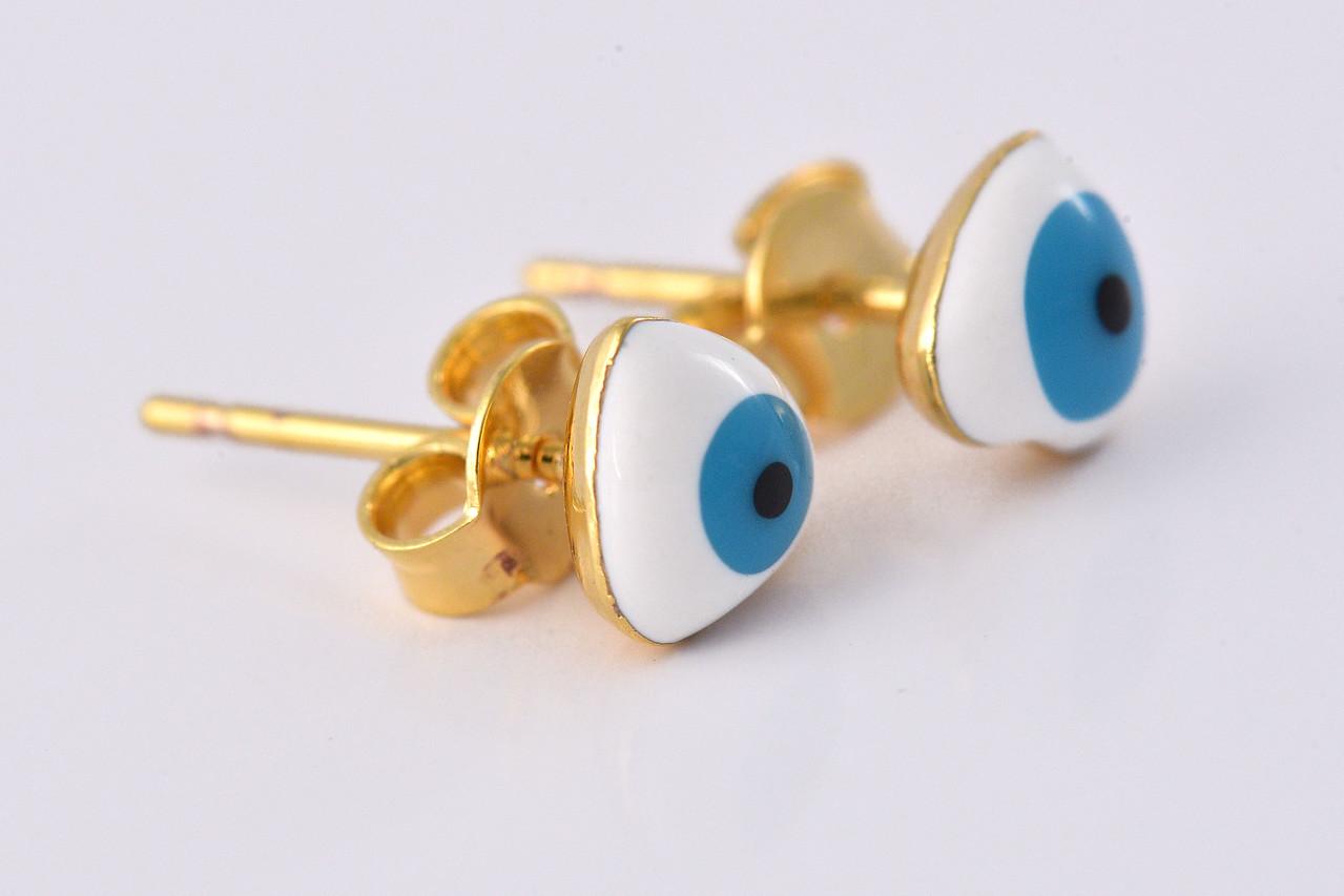 Conjunto Brinco e Pulseira Olhos Gregos