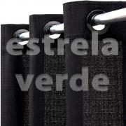 CORTINA VENEZA 2,60X1,70 9999 PRETO