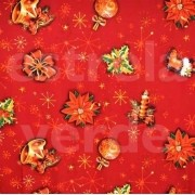 Oxford Estampado 089/476 Natal Vermelha Simbolos