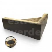PE MADEIRA CANTONEIRA 20X20X6CM C/ SUPORTE TABACO