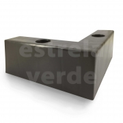PE PVC CANTONEIRA 15X15X6 TABACO