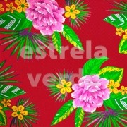 TECIDO CHITAO 2612/2 LILAS/MARROM 1,40 LARG