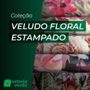 VELUDO ESTAMPADO FLORAL 1,40