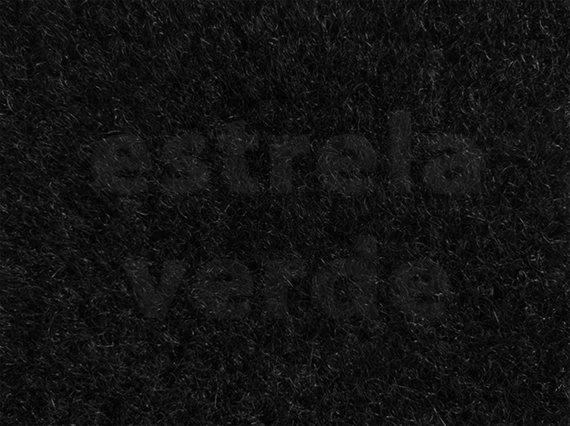 CARPETE PRETO C/ RESINA (900)  2,00 LARG (E)  - Estrela Verde