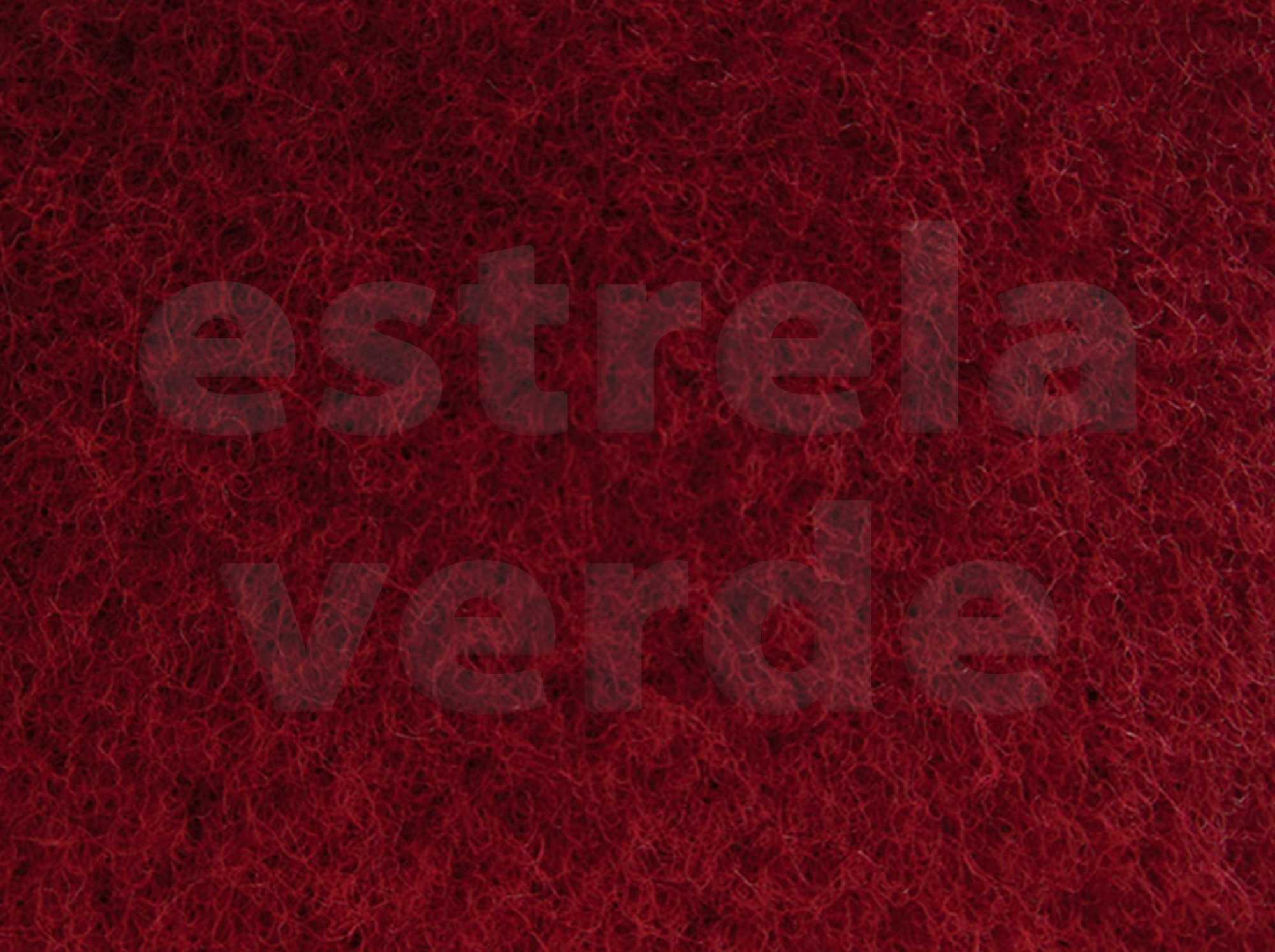 CARPETE VERMELHO C/ RESINA (210) 2,00 LARG  - Estrela Verde
