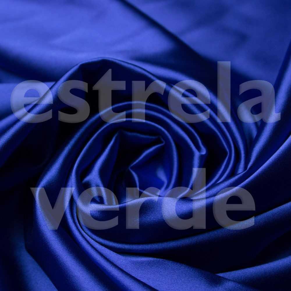 CETIM LISO AZUL ROYAL 1,50 LARG  - Estrela Verde