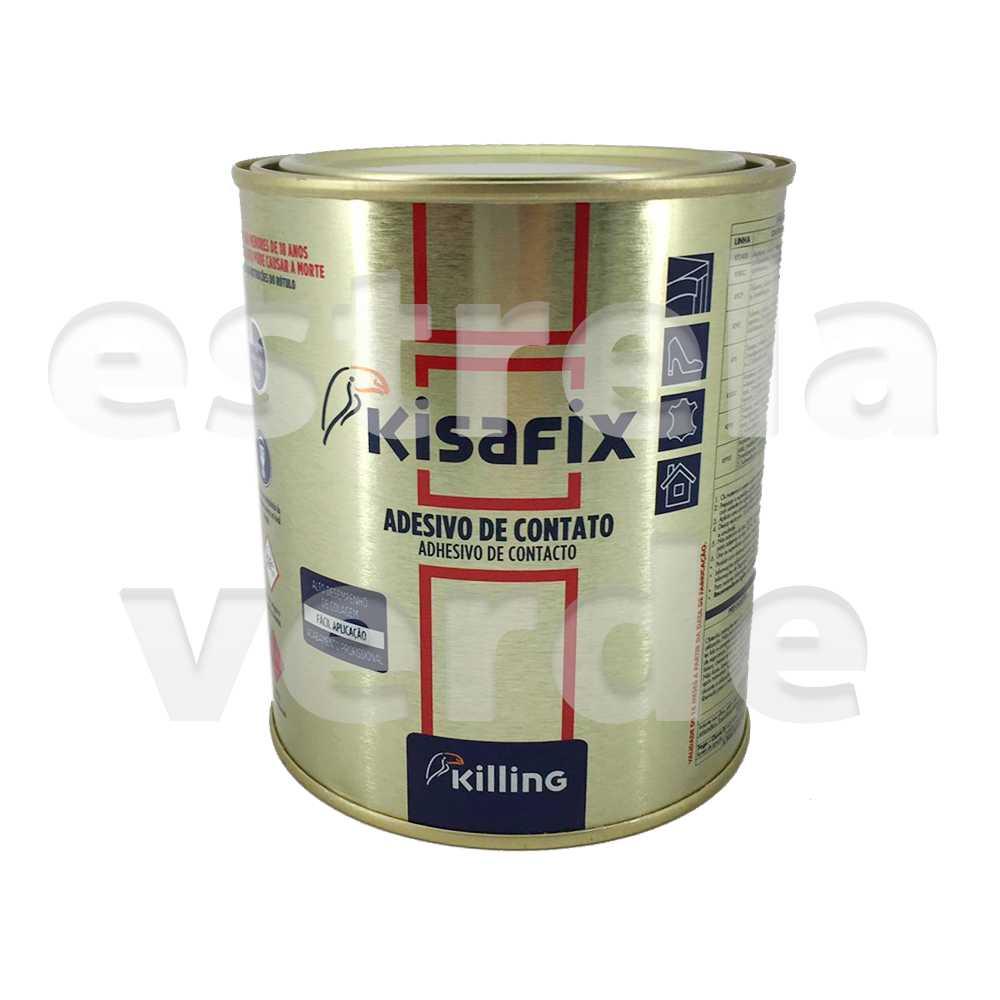 COLA KISAFIX PREMIUN CONTATO 0,750KG (KFPS LT09)  - Estrela Verde