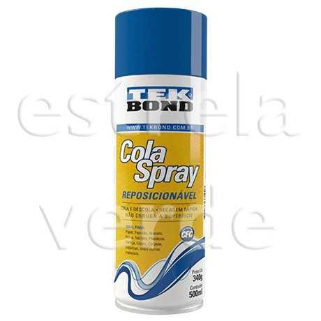 COLA SPRAY REPOSICIONAVEL 340GR/500ML  - Estrela Verde