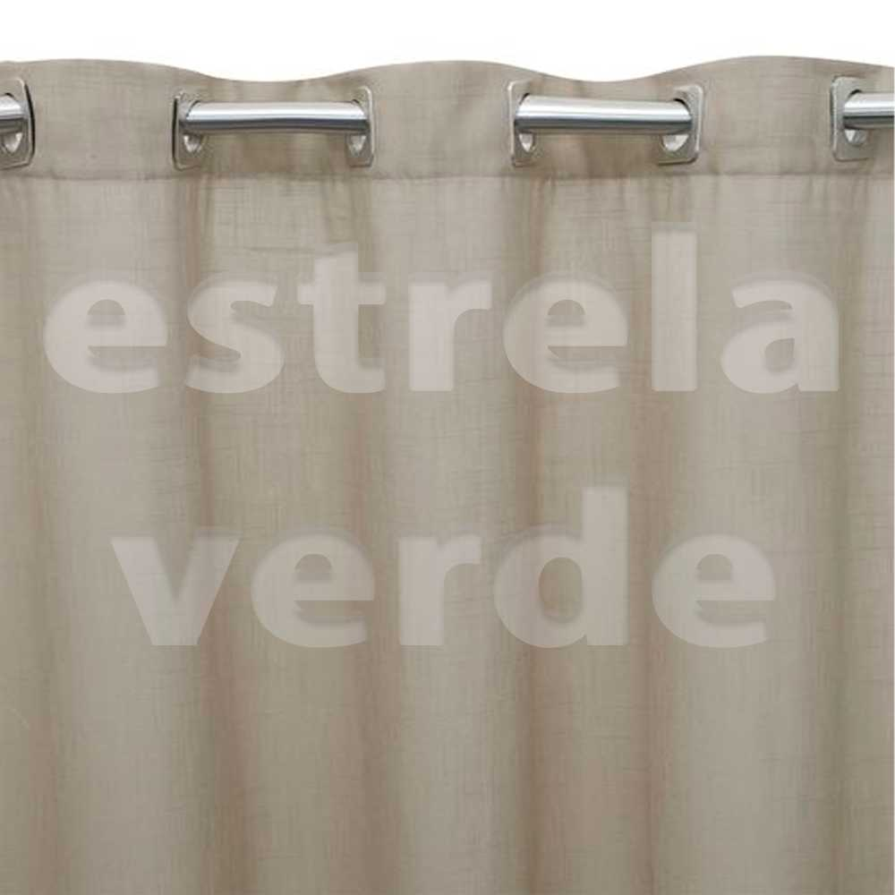 CORTINA HERMES C/ FORRO 2,60X1,80 0003 BEGE  - Estrela Verde