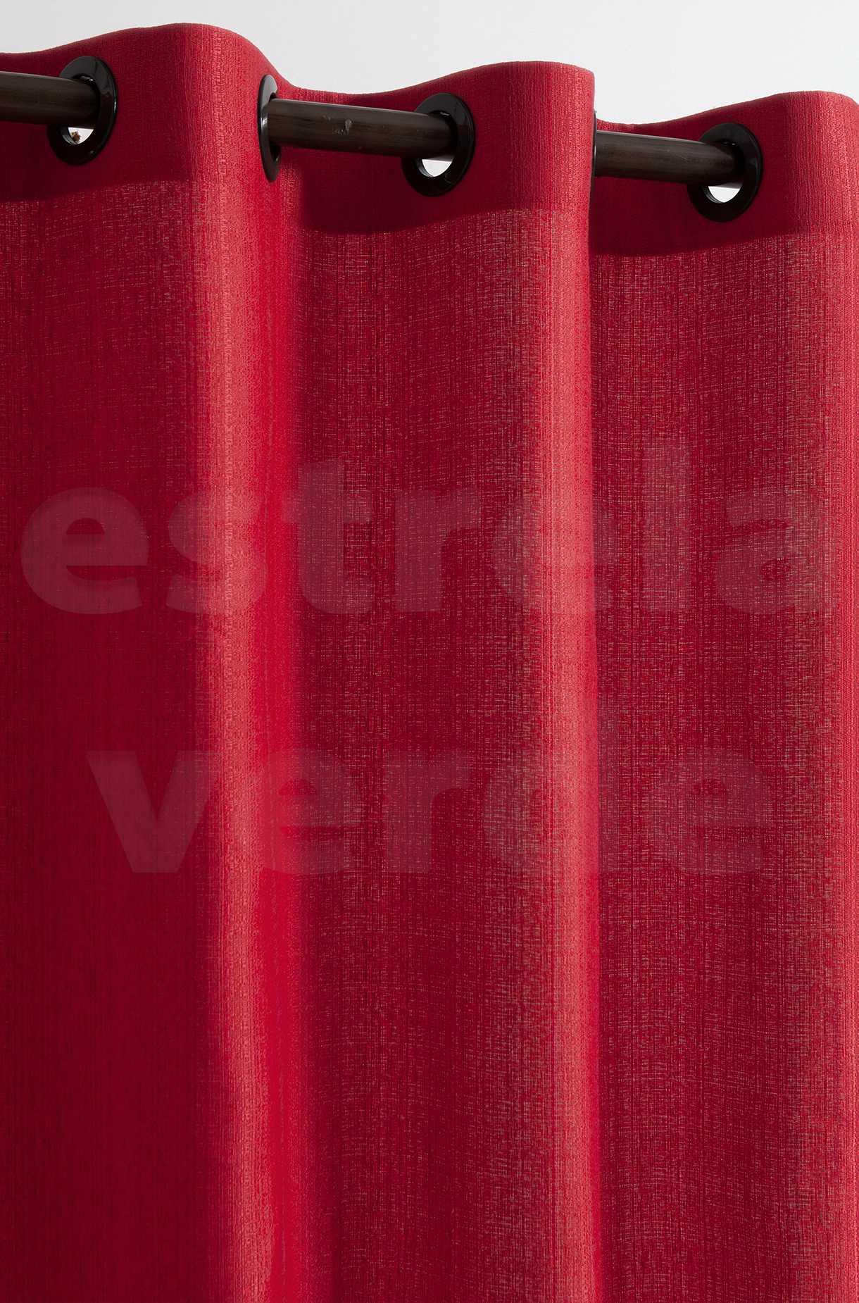 CORTINA VENEZA 2,60X1,70 5684 VERMELHO  - Estrela Verde